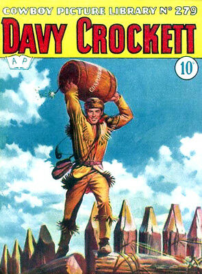 COWBOY PICTURE LIBRARY No.279 - DAVY CROCKETT   Facsimile