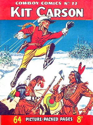 COWBOY COMICS / PICTURE LIBRARY No.72 - KIT CARSON   Facsimile
