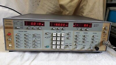 Wiltron 6647A  Sweep Signal Generator, 10 MHz - 18,6 GHz,  opt 02 and 03