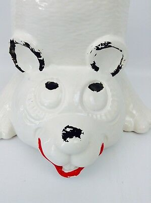 Vintage McCoy Pottery USA Upside Down Panda Bear Cookie Jar