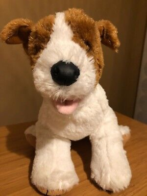 BUILD A BEAR Jack Russell Terrier Puppy Dog Plush Stuffed Animal Toy White