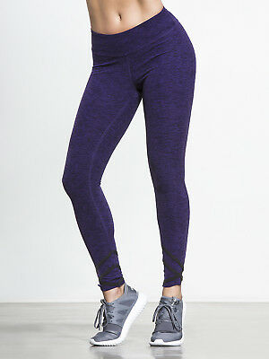 acca29ec6088b Beyond Yoga Spacedye Strappy 7/8 Length Leggings Purple XS SOLD OUT  Excellent!