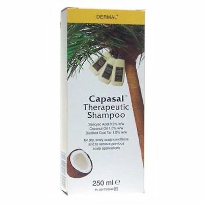 3 x Capasal Therapeutic Shampoo 250ml | GENUINE UK PHARMACY STOCK