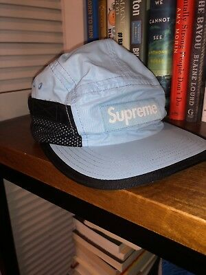 742489fd284 Supreme Side Mesh Pocket Box Logo 5-Panel Camp Hat SS16 2016 Baby blue TNF