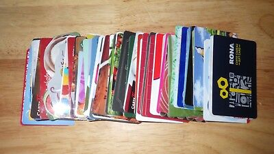 Gift Cards, No Value, Lot Of 75, Very Few Duplicates (Item M101)