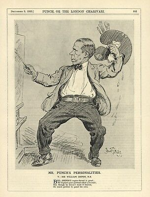 Vintage 1925 Punch Print: Sir William Orpen - Irish Painter