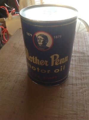 "VIntage MOTHER PENN MOTOR Oil Can Gas Oil ""Air Can""? Advertising Petroliana B"