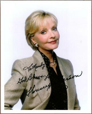 """Florence Henderson, """"The Brady Bunch Actress, Signed Photo (Preprint)"""