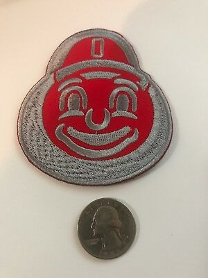 """OSU Ohio State Buckeyes Embroidered Iron-On Patch Brutus 3"""" X 2.75"""