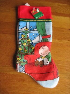 "Snoopy / Peanuts Christmas Stocking Chair 15"" Long  New"