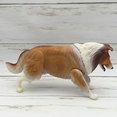 1976 Vintage Gabriel Lassie Action Figure Jointed Poseable Collie Animal Dog
