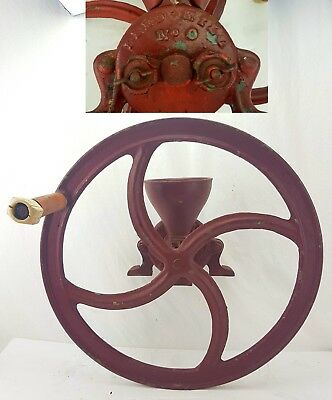 Antique Cast Iron FEED MILL Corn Grinder WILSON BROTHERS EASTON PA No 0