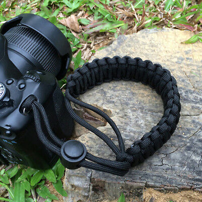 Strong Camera Adjustable Wrist Lanyard Straps Grip Weave Cord for Paracord DSLR