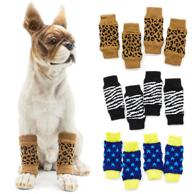 4Pcs Non-Slip Socks Leggings Knee Pads Pet Puppy Shoes for Medium Large Dogs