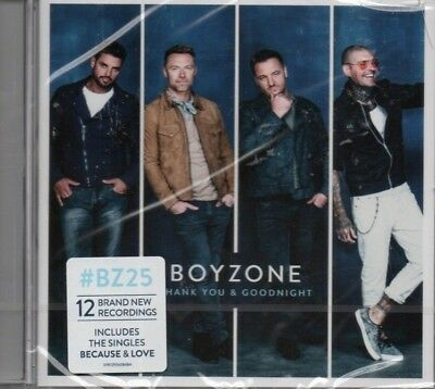 Boyzone - Thank You & Goodbye     *new & Sealed 2018 Cd Album*