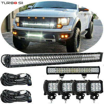 """42inch LED Light Bar +22in +4x4"""" Pods CREE Work Lamps Offroad Turck SUV UTE ATV"""