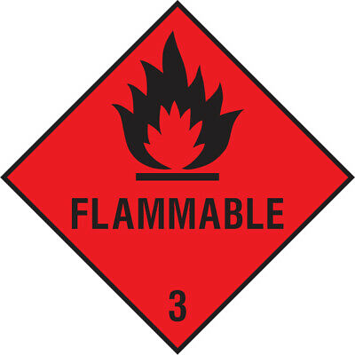 Dang0004 Flammable Sign Sticker Health Safety Warning