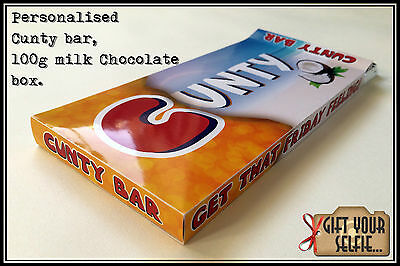 Personalised 100g Cunty milk Chocolate box, Great Gift Idea.