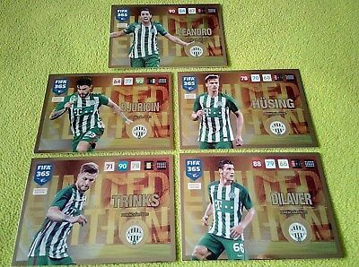 Panini adrenalyn xl fifa 365 2016/17 update Ferencvárosi TC limited card set