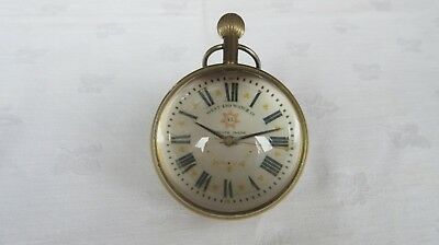 Vintage West End Watch Co Desk/travelling Clock/watch 17 Jewels - Rare/excellent