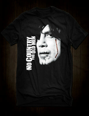 a6526296217493 New Black No Country For Old Men Movie T-Shirt Javier Bardem Coen Brothers