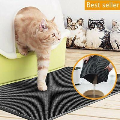 2018 New Double Layer Cat Litter Mat - Silver Ion Antimicrobial Protection