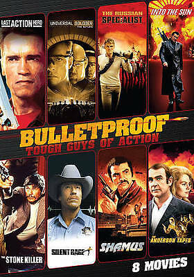 Bulletproof: Tough Guys of Action DVD 8MOVIES! NEW SEALED