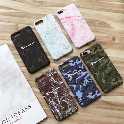 8e3f97edb81777 New Champion Marble camouflage PC Hard Case For iPhone X XR XS Max 6 6s 7