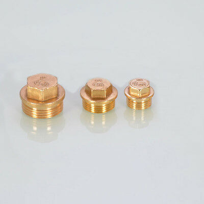 """Brass Hex Flanged Male Blanking Cap Tube Plumbing Stop End Plug BSP 1/2"""" 3/4"""" 1"""""""