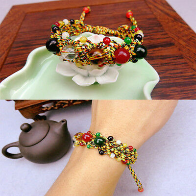 NEW Woven Beaded Lucky Bracelet Braided Women Fashion Pulsera de Cuentas Bangle