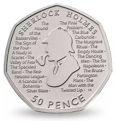 Sherlock Holmes 2019 UK 50p Brilliant Uncirculated Coin