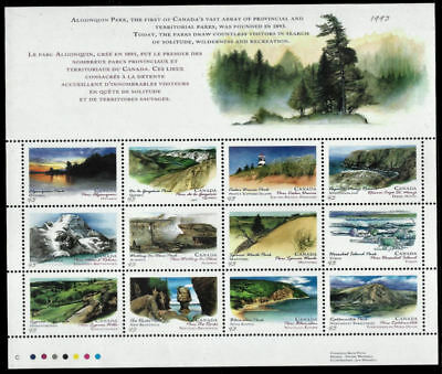 1993 Canada Days: Provincial and Territorial Parks Full pane of 12 SC#1483a MNH