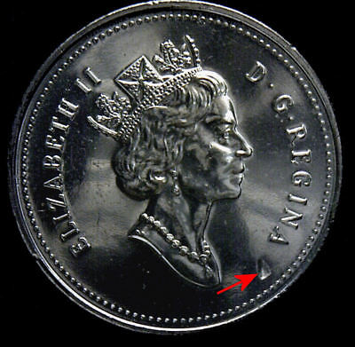 2000 CANADA 50 CENTS (Lamination hole) Half Dollar COIN Uncirculated from roll