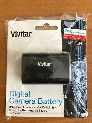 Vivitar LP-E6N 2000mAh Battery for Canon EOS 5DSR, 5D Mark II, III **BRND NEW**