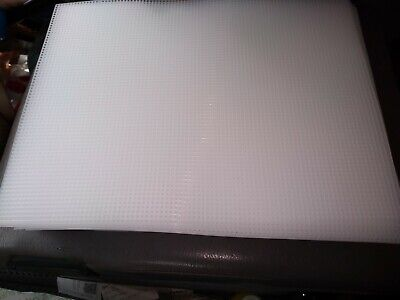 Clear 7-Mesh Count Plastic Canvas Bulk- 60 Sheets- 10.5 x 13.5 Inch