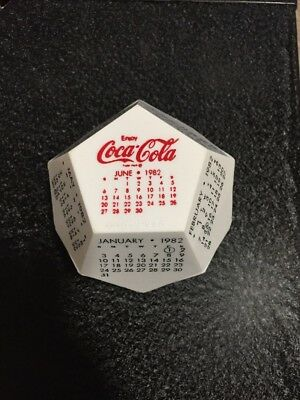 1982 COCA COLA TGBWC  Calendar 12 Sided Polygon Dodecagon sign