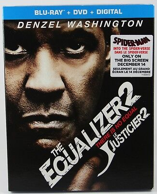 The Equalizer 2  [Blu-ray] + DVD + Digital BRAND NEW Slipcover Canadian Release
