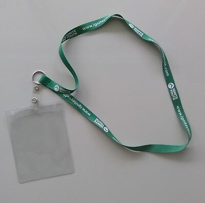 ID Badge Card Holder Business Security Pass Tag Holder with Neck Strap Lanyard