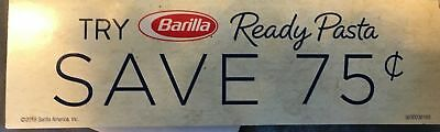 15 Coupons Save $.75 off One Barilla Ready Pasta Pouch 3/31/2019 DO NOT DOUBLE