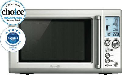 Breville 34L 1100W Stainless Steel Microwave BMO735BSS