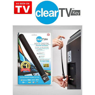 Super Clear TV Key HDTV FREE TV Digital Indoor Antenna Ditch Cable ba
