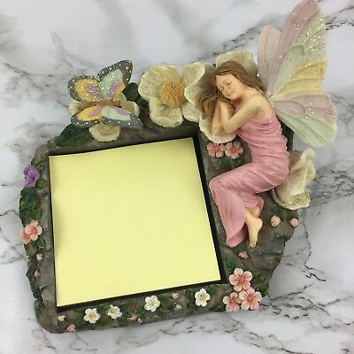 FAIRY Sticky Note Pad Holder BY SPOONTIQUES Office Desk Home Decor Fairies