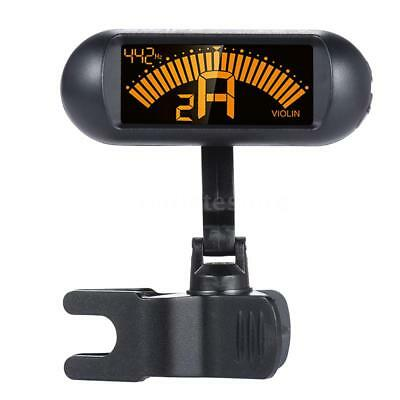 Clip-on Digital Electronic Chromatic Violin Tuner LCD Display 360° Rotating J0D9