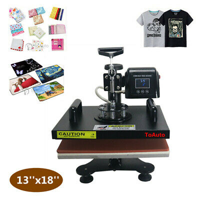 13''x18'' Heat Press Machine Sublimation Transfer Swing Away T-Shirts Printing