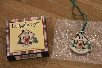 Longaberger From Our House to Yours Tie-On ~ New!