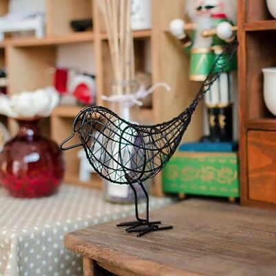Wrought Iron Bird Ornaments Home Garden Decor Desktop Ornament Office Craft Gift