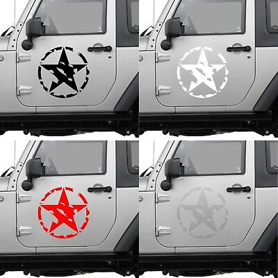 STICKER 12cm ETOILE US ARMY USA MILITARY JEEP GUERRE DECHIRE AUTOCOLLANT AA128