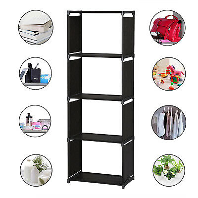4 Tier Wooden Bookcase Shelving Display Shelves Storage Unit Wood Shelf