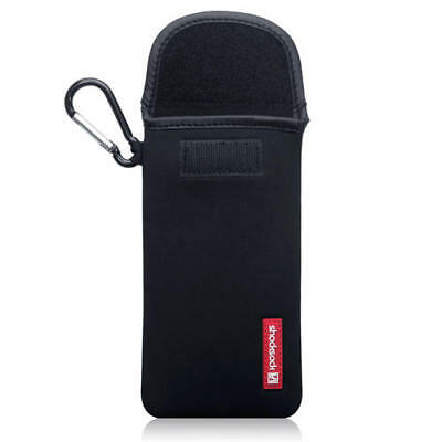 Shocksock Neoprene Pouch Case with Carabiner for Samsung Galaxy S10 Plus - Black