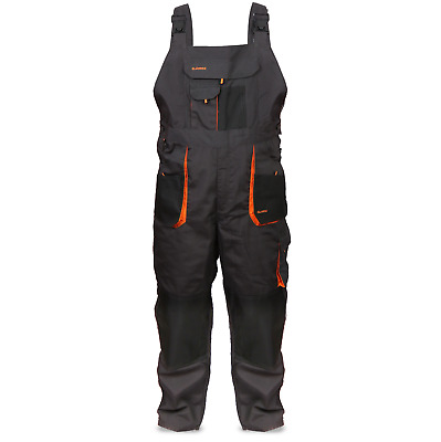 Bib and Brace Overalls,  Multipockets, Pocket For Knee Pad,Triple Stitched Seams